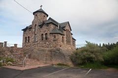 Historiskt kapell i Colorado, Rocky Mountains royaltyfri fotografi