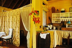 Historiskt karibiskt hem, St Croix, USVI royaltyfri foto