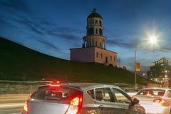 Historiskt klockatorn i Halifax fotografering för bildbyråer