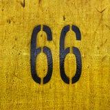 Historiskt lopp för Route 66 vägmärkehuvudväg Arkivfoton