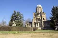 Historiskt Masaryk utkiktorn av självständighet i Horice i Tjeckien, solig dag arkivfoton