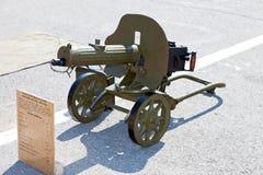 historiskt maskinvapen för tryckspruta Arkivfoton