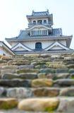 Historiskt museum för Nagahama slott, Japan arkivfoton