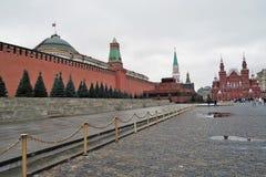 Historiskt museum och Lenins mausoleum i Moskva, Ryssland Royaltyfri Fotografi