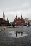 Historiskt museum och Lenins mausoleum i Moskva, Ryssland Royaltyfri Foto