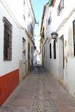 Historiskt område för gata av Cordoba Arkivfoton