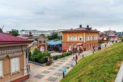 historiskt område för 130-thfjärdedel i Irkutsk Ryssland Arkivbild