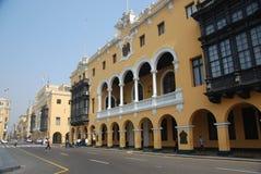 Historiskt område i Lima, Peru Royaltyfri Fotografi