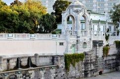 Historiskt parkera i staden av Wien arkivbilder
