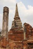 Historiskt parkera med den gamla pagoden och pelaren royaltyfri fotografi