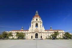 Historiskt Pasadena stadshus i morgon Arkivbild