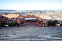 Historiskt rött vaggar amfiteatern nära Denver, Colorado royaltyfri foto