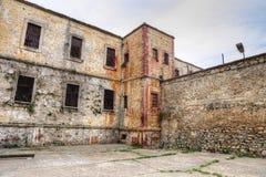 Historiskt Sinop fängelse Tarihi Sinop Kapali Cezaevi Sinop, Turkiet fotografering för bildbyråer
