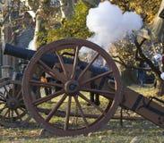 historiskt skytte för kanon Royaltyfri Fotografi