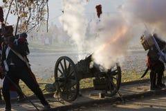 historiskt skytte för kanon Arkivbild
