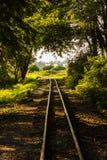 Historiskt smalt järnvägspår. Polen Znin. Royaltyfri Fotografi