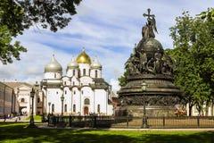 Historiskt ställe av Veliky Novgorod, Ryssland arkivbilder