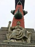 Historiskt ställe på invallningen av Vasilyevsky Island, St Petersburg royaltyfri bild