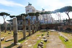 Historiskt ställe på Rome royaltyfria bilder