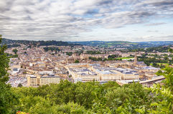 Historiskt stadbad Royaltyfri Foto