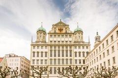 Historiskt stadshus av Augsburg royaltyfria bilder