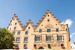 Historiskt stadshus av Ulm Fotografering för Bildbyråer