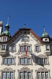 Historiskt stadshus, Einsiedeln, Schweiz Royaltyfri Fotografi