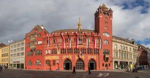 Historiskt stadshus i Baseln, Schweiz Royaltyfria Bilder