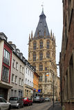 Historiskt stadshus i Cologne Arkivfoton