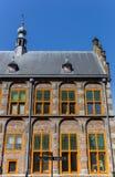 Historiskt stadshus i mitten av Hasselt arkivfoton