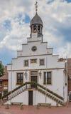 Historiskt stadshus i mitten av Lingen Royaltyfria Bilder