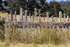 Historiskt staket på fortet Ross State Historic Park arkivbilder
