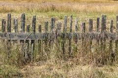 Historiskt staket på fortet Ross State Historic Park royaltyfria foton