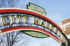 Historiskt tecken för Kansas City stadsmarknad Royaltyfri Foto