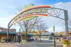 Historiskt tecken för Kansas City stadsmarknad Royaltyfria Foton
