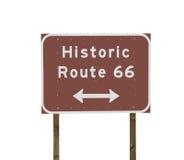historiskt tecken för route 66 Arkivfoto