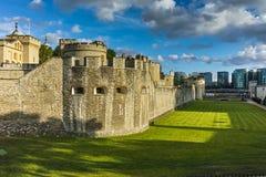 Historiskt torn av London, England arkivbilder