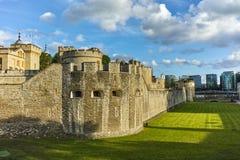 Historiskt torn av London, England Arkivbild