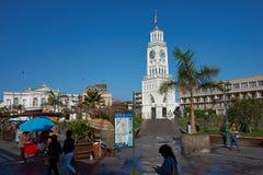 historiskt torn för klocka arkivbild