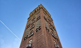 Historiskt torn för Missouri Kansas City tegelsten royaltyfri foto