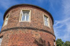 Historiskt torn Pulverturm i mitten av Coesfeld fotografering för bildbyråer