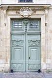 historiskt trä för dörr royaltyfria foton