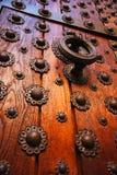 historiskt trä för dörr arkivbild