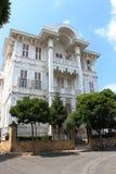 Historiskt trähus i Buyukada, Istanbul Arkivbilder
