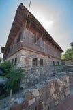 Historiskt utseende av en forntida bulgarisk stad Arkivbilder