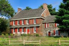 Historiskt Whitall hus på den röda bankslagfältet Arkivfoton
