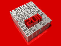 History of 3d 2011 art Stock Images