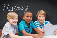 History against blackboard Royalty Free Stock Photography