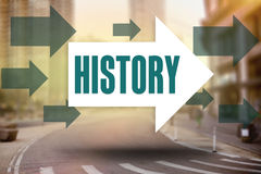 History against new york street Royalty Free Stock Images