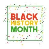 Black History Month Vector Template Design Illustrator royalty free stock photo